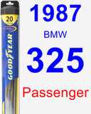 Passenger Wiper Blade for 1987 BMW 325 - Hybrid