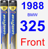 Front Wiper Blade Pack for 1988 BMW 325 - Hybrid