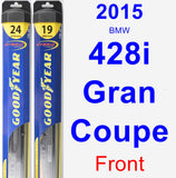 Front Wiper Blade Pack for 2015 BMW 428i Gran Coupe - Hybrid