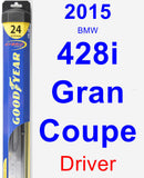 Driver Wiper Blade for 2015 BMW 428i Gran Coupe - Hybrid