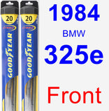 Front Wiper Blade Pack for 1984 BMW 325e - Hybrid