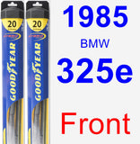 Front Wiper Blade Pack for 1985 BMW 325e - Hybrid
