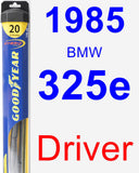 Driver Wiper Blade for 1985 BMW 325e - Hybrid