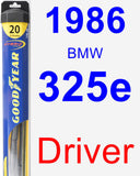 Driver Wiper Blade for 1986 BMW 325e - Hybrid