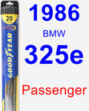 Passenger Wiper Blade for 1986 BMW 325e - Hybrid