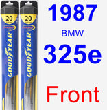 Front Wiper Blade Pack for 1987 BMW 325e - Hybrid