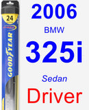 Driver Wiper Blade for 2006 BMW 325i - Hybrid