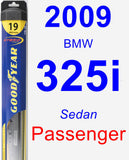 Passenger Wiper Blade for 2009 BMW 325i - Hybrid