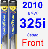 Front Wiper Blade Pack for 2010 BMW 325i - Hybrid