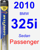 Passenger Wiper Blade for 2010 BMW 325i - Hybrid