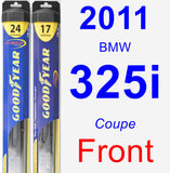 Front Wiper Blade Pack for 2011 BMW 325i - Hybrid