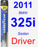 Driver Wiper Blade for 2011 BMW 325i - Hybrid