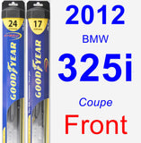 Front Wiper Blade Pack for 2012 BMW 325i - Hybrid