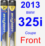 Front Wiper Blade Pack for 2013 BMW 325i - Hybrid