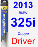 Driver Wiper Blade for 2013 BMW 325i - Hybrid