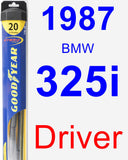 Driver Wiper Blade for 1987 BMW 325i - Hybrid