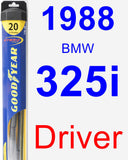 Driver Wiper Blade for 1988 BMW 325i - Hybrid