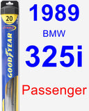 Passenger Wiper Blade for 1989 BMW 325i - Hybrid