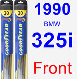 Front Wiper Blade Pack for 1990 BMW 325i - Hybrid