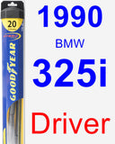 Driver Wiper Blade for 1990 BMW 325i - Hybrid