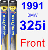 Front Wiper Blade Pack for 1991 BMW 325i - Hybrid