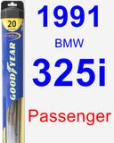 Passenger Wiper Blade for 1991 BMW 325i - Hybrid