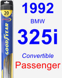 Passenger Wiper Blade for 1992 BMW 325i - Hybrid