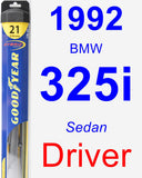Driver Wiper Blade for 1992 BMW 325i - Hybrid