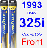 Front Wiper Blade Pack for 1993 BMW 325i - Hybrid