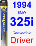 Driver Wiper Blade for 1994 BMW 325i - Hybrid