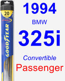 Passenger Wiper Blade for 1994 BMW 325i - Hybrid