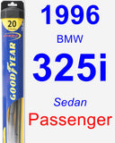 Passenger Wiper Blade for 1996 BMW 325i - Hybrid