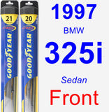 Front Wiper Blade Pack for 1997 BMW 325i - Hybrid