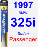 Passenger Wiper Blade for 1997 BMW 325i - Hybrid