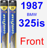 Front Wiper Blade Pack for 1987 BMW 325is - Hybrid