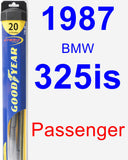 Passenger Wiper Blade for 1987 BMW 325is - Hybrid