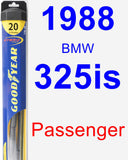 Passenger Wiper Blade for 1988 BMW 325is - Hybrid
