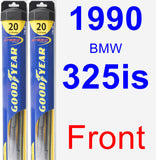 Front Wiper Blade Pack for 1990 BMW 325is - Hybrid