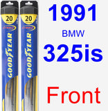 Front Wiper Blade Pack for 1991 BMW 325is - Hybrid