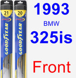 Front Wiper Blade Pack for 1993 BMW 325is - Hybrid