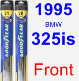 Front Wiper Blade Pack for 1995 BMW 325is - Hybrid