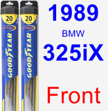 Front Wiper Blade Pack for 1989 BMW 325iX - Hybrid