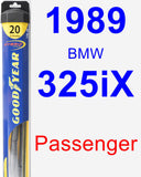 Passenger Wiper Blade for 1989 BMW 325iX - Hybrid