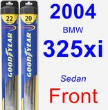 Front Wiper Blade Pack for 2004 BMW 325xi - Hybrid