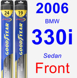 Front Wiper Blade Pack for 2006 BMW 330i - Hybrid