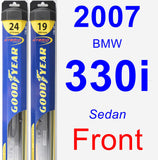 Front Wiper Blade Pack for 2007 BMW 330i - Hybrid