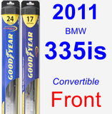 Front Wiper Blade Pack for 2011 BMW 335is - Hybrid