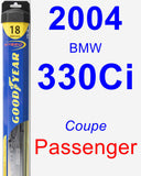 Passenger Wiper Blade for 2004 BMW 330Ci - Hybrid