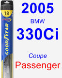 Passenger Wiper Blade for 2005 BMW 330Ci - Hybrid