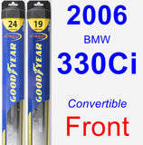 Front Wiper Blade Pack for 2006 BMW 330Ci - Hybrid